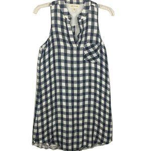 Cloth & Stone Women Sleeveless Gingham Dress Sz S